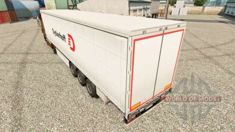 Dyckerhoff skin for trailers for Euro Truck Simulator 2
