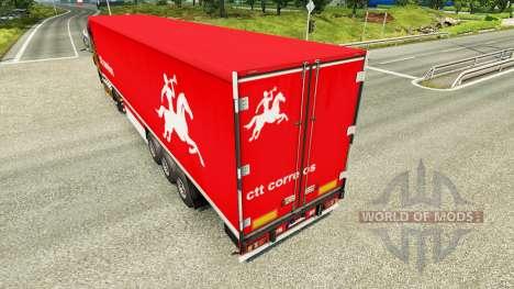 Skin CTT Correios de Portugal S. A on trailers for Euro Truck Simulator 2