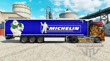 Skin on Michelin semi-trailers for Euro Truck Simulator 2