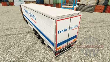 Fresh Logistics skin for trailers for Euro Truck Simulator 2