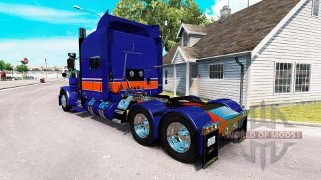 Rollin Transport skin for the truck Peterbilt 38 for American Truck Simulator
