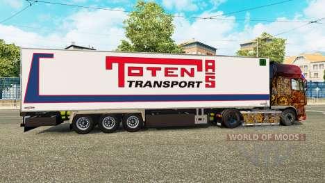 Semi-trailer refrigerator Chereau Toten Transpor for Euro Truck Simulator 2