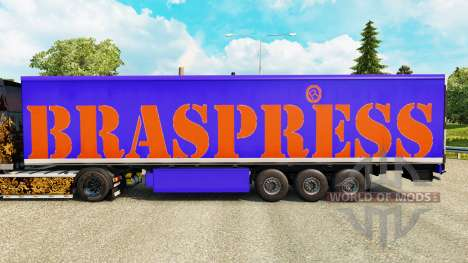 Braspress skin for trailers for Euro Truck Simulator 2