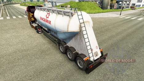 Skin Engemix cement semi-trailer for Euro Truck Simulator 2