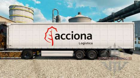 Skin Acciona for trailers for Euro Truck Simulator 2