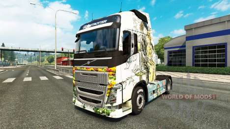 Peynet skin for Volvo truck for Euro Truck Simulator 2