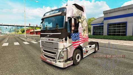 The U. S. Army skin for Volvo truck for Euro Truck Simulator 2