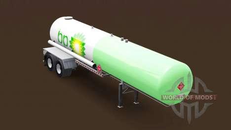Skin BP on a gas tank semi-trailer for American Truck Simulator