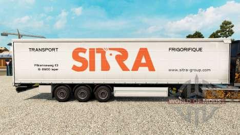 Sitra skin for curtain semi-trailer for Euro Truck Simulator 2