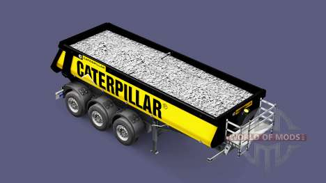Semi-trailer tipper Schmitz Caterpillar for Euro Truck Simulator 2