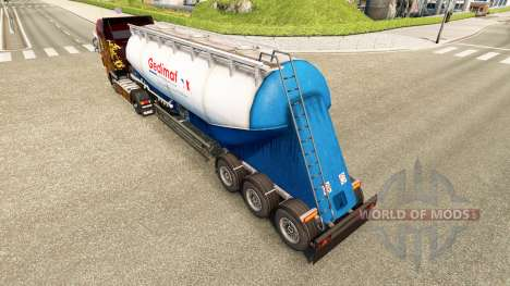 Skin Gedimat cement semi-trailer for Euro Truck Simulator 2