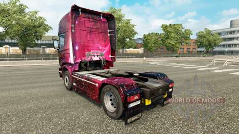 Skin Weltall on the tractor Scania for Euro Truck Simulator 2