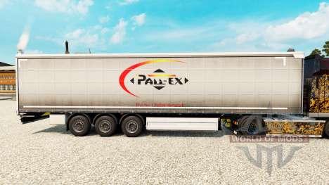 Skin Pall-Ex to curtain semi-trailer for Euro Truck Simulator 2