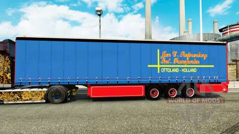 Curtain side semi-trailer January Swijnenburg for Euro Truck Simulator 2