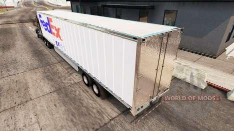 FedEx skin extended trailer for American Truck Simulator