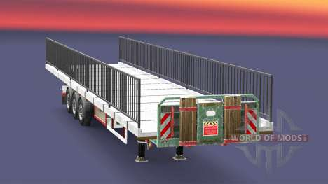 Semi-ground with the weight of the bridge elemen for Euro Truck Simulator 2