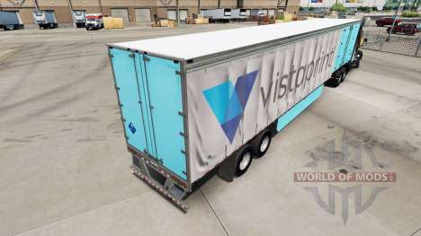 Skin Vistaprint on a curtain semi-trailer for American Truck Simulator