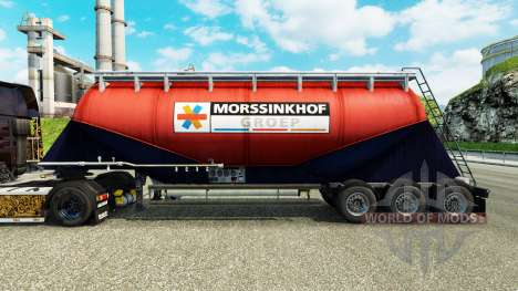 Skin Morssinkhof Groep cement semi-trailer for Euro Truck Simulator 2