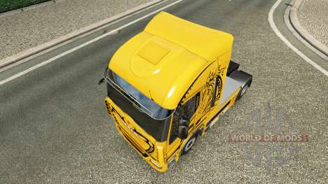 Skin Yellow Devil on the truck Iveco for Euro Truck Simulator 2