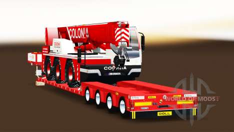 A collection of trailers for Euro Truck Simulator 2