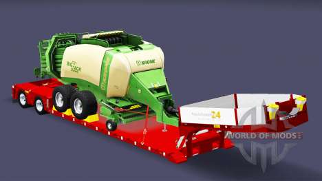 Low sweep with bales baler for Euro Truck Simulator 2