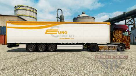 Skin Eurocement group on semi for Euro Truck Simulator 2