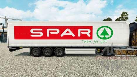 Skin Spar on a curtain semi-trailer for Euro Truck Simulator 2