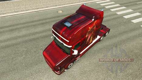 Skin Dragon for truck Scania T for Euro Truck Simulator 2