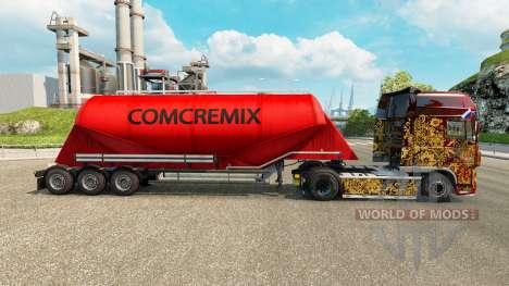 Skin Comcremix cement semi-trailer for Euro Truck Simulator 2