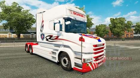 White skin for truck Scania T for Euro Truck Simulator 2