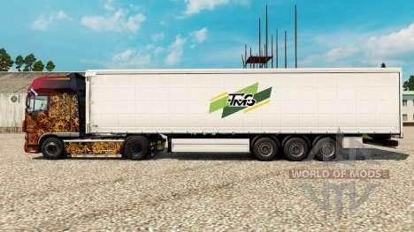 Skin Tmg Loudeac on semi for Euro Truck Simulator 2