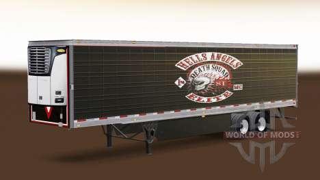 Skin Hells Angels on refrigerated semi-trailer for American Truck Simulator