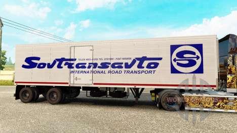 The semitrailer-the refrigerator of Odaz 9786 So for Euro Truck Simulator 2