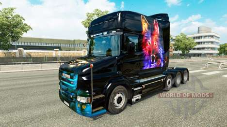 Wolf skin v2 for Scania T truck for Euro Truck Simulator 2