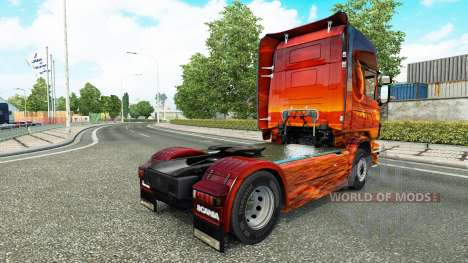 Skin Space on the tractor Scania for Euro Truck Simulator 2