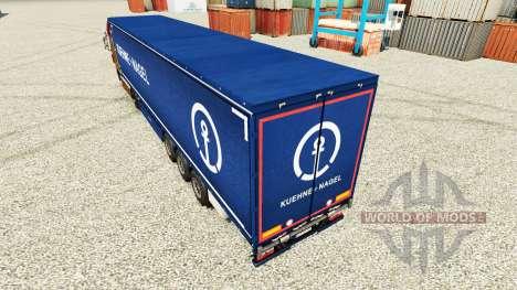 Skin Kuehne Nagel for semi-trailers for Euro Truck Simulator 2