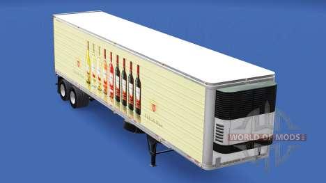 Skin E. & J. Gallo Winery on the trailer for American Truck Simulator