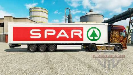 Skin SPAR for trailers for Euro Truck Simulator 2