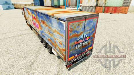 Red Bull skin for trailers for Euro Truck Simulator 2