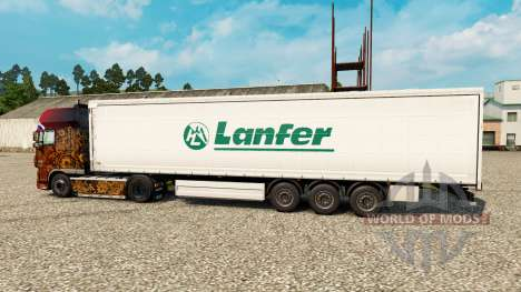 Skin Lanfer Logistics for trailers for Euro Truck Simulator 2