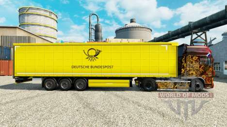 The skin of the Deutsche Bundespost for trailers for Euro Truck Simulator 2