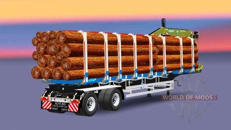 A semi-trailer truck with cargo Huttner for Euro Truck Simulator 2