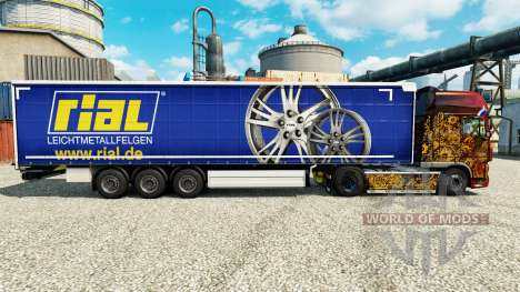 Skin Rial to trailers for Euro Truck Simulator 2