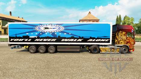 Skin Arminia Bielefeld on semi for Euro Truck Simulator 2