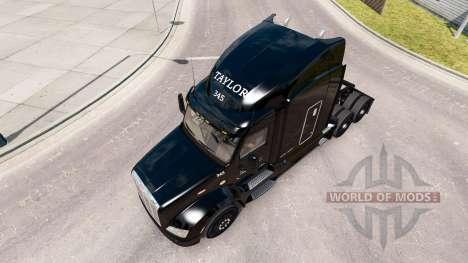 Skin Taylor Express truck Peterbilt 579 for American Truck Simulator