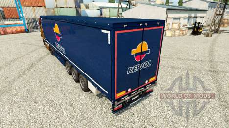 Repsol v2 skin for trailers for Euro Truck Simulator 2