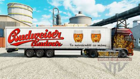 Budweiser skins for trailers for Euro Truck Simulator 2