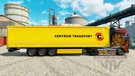 Skin Centrum Transport on semi-trailers for Euro Truck Simulator 2