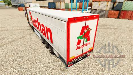 Auchan skin for trailers for Euro Truck Simulator 2