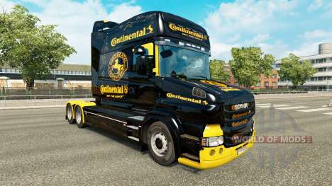 Skin Continental for truck Scania T for Euro Truck Simulator 2